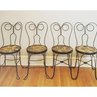 Vintage Ice Cream Parlor Chairs- Set of 4 | Chairish