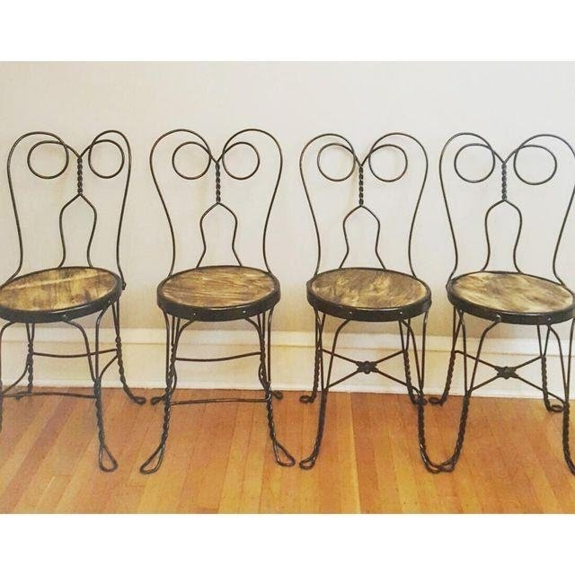 Vintage Ice Cream Parlor Chairs  Set Of 4 | Chairish