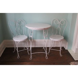 vintage ice cream parlor table chair by VintageChicFurniture