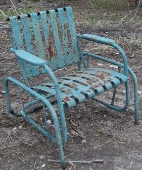 Peachy Vintage Metal Lawn Chairs Visual Hunt Download Free Architecture Designs Scobabritishbridgeorg