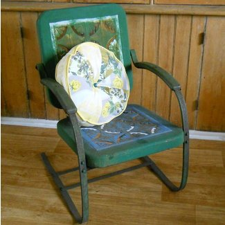 Vintage Metal Lawn Chair by lisabretrostyle2 on Etsy