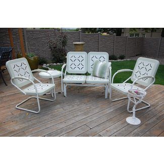 Vintage Metal Lawn Chairs Set : Fresh Painted Vintage ...