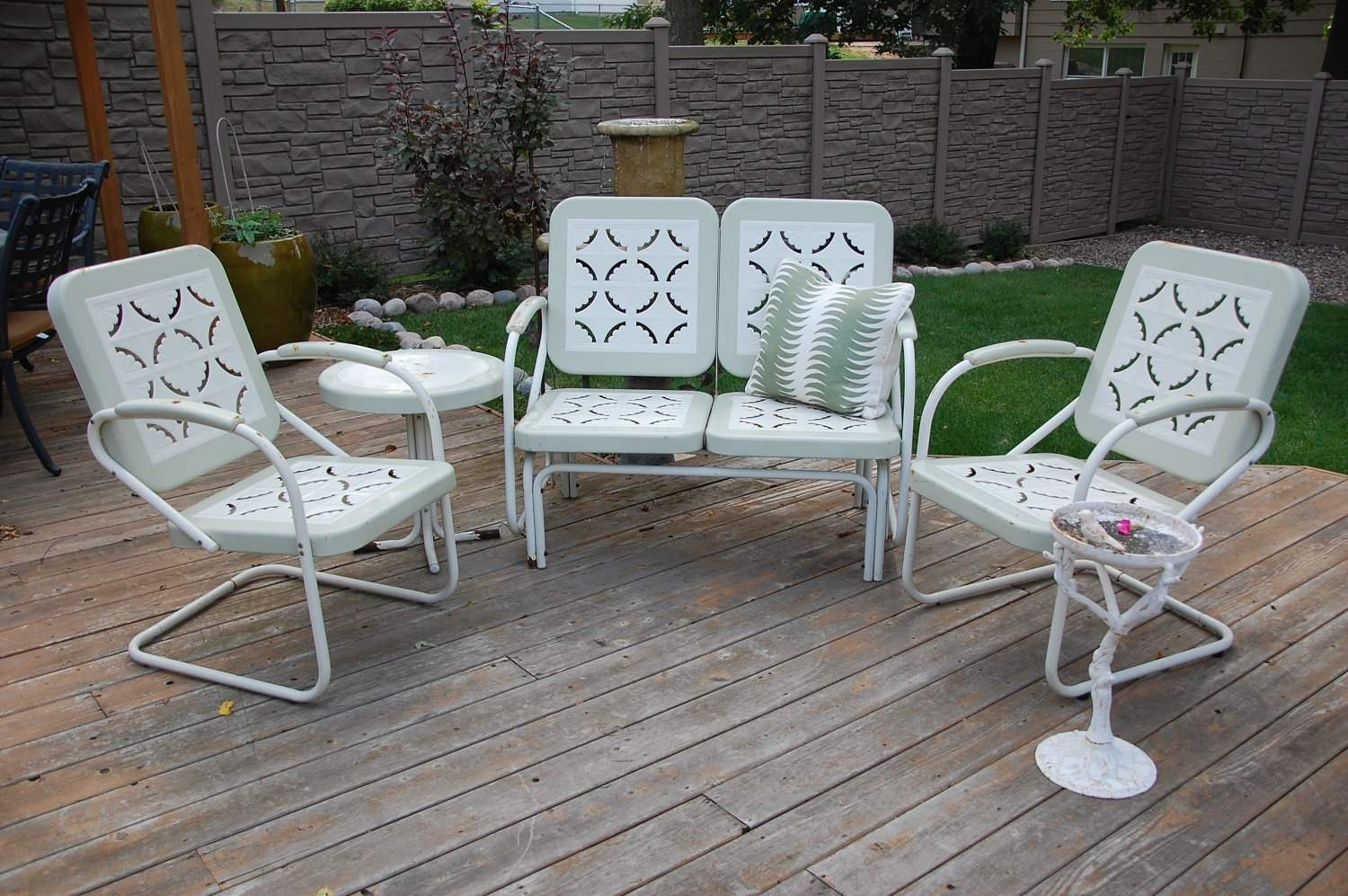 Vintage Metal Lawn Chairs Set : Fresh Painted Vintage .