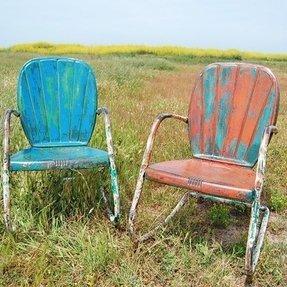 Vintage Metal Lawn Chairs >> Visualhunt Com Photos 10 Vintage Metal Patio Chair