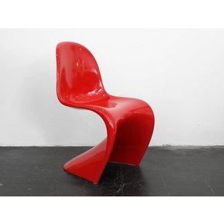 Vintage Red Baydur Panton Chair by Verner Panton for Vitra