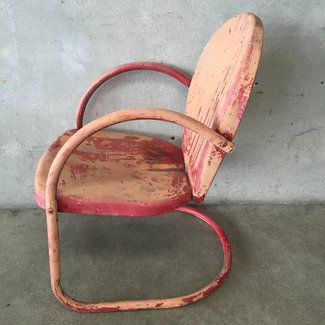 Vintage Retro Clam Shell Metal Lawn Chair #2 – UrbanAmericana