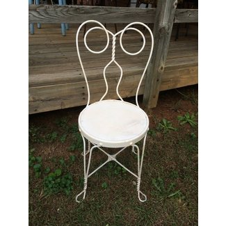 Vintage White Ice Cream Parlor Chair Shabby Chic by ...