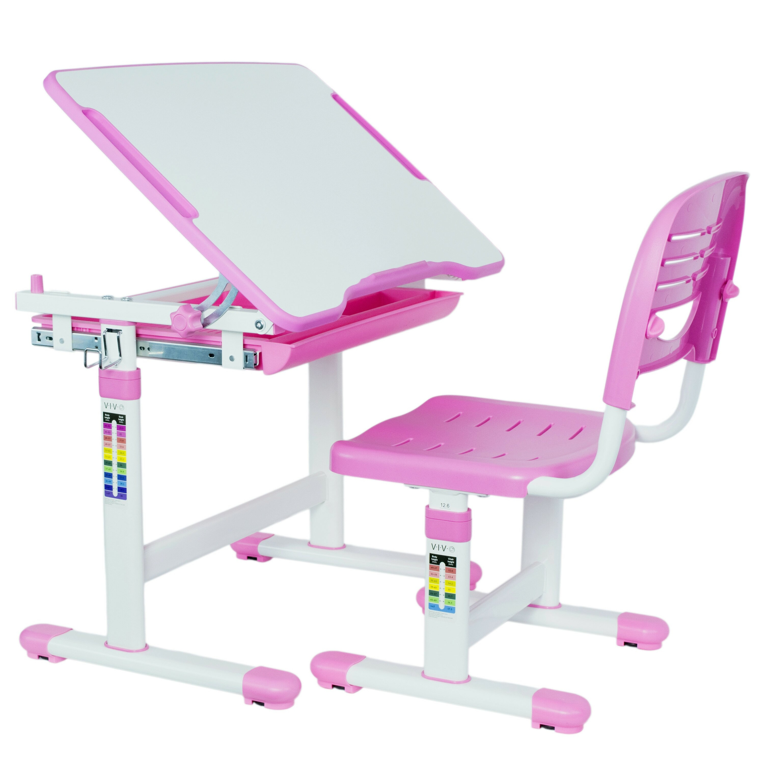 VIVO Height Adjustable Childrens Desk U0026 Chair Kids .