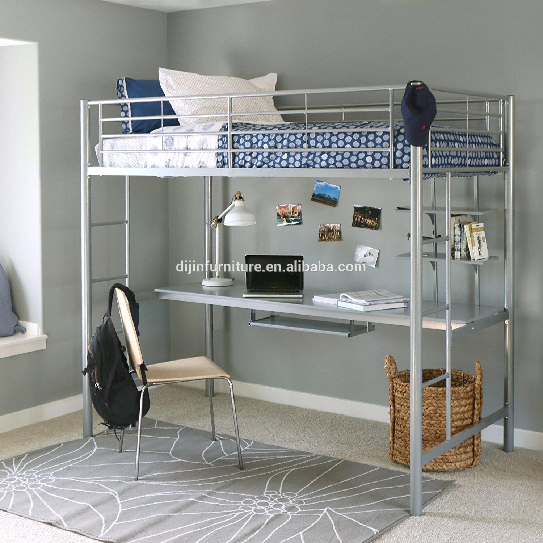 Walker Edison Twin Metal Loft Bed. Contemporary Design ...