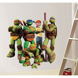 Wall Decal: Awesome Ninja Turtle Wall Decals Ninja Turtles ...