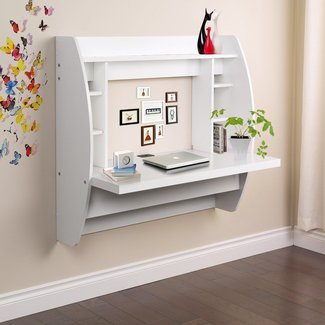 Wall Mount Floating Desk Storage Home Office Computer Desk ...