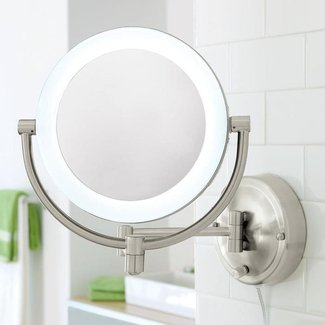 Wall-Mount Makeup Mirror at Brookstone—Buy Now!