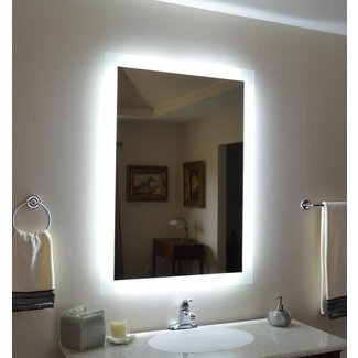 Wall Mounted Lighted Vanity Mirror - Modern - Bathroom ...
