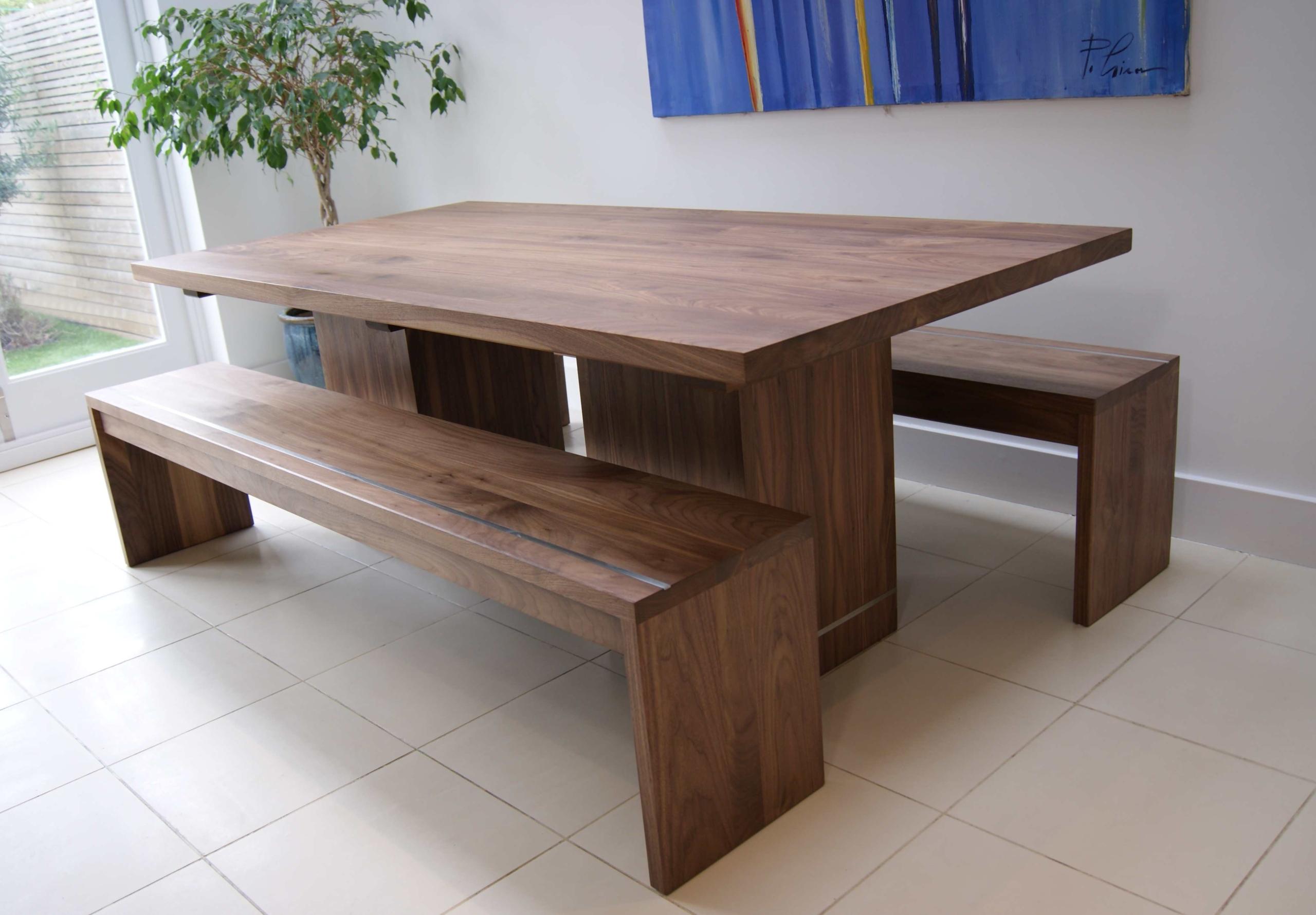 Ordinaire Walnut Dining Table U0026 Benches   MijMoj