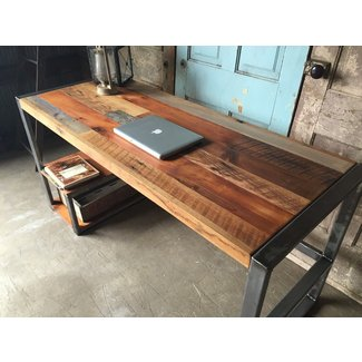 Weathered Reclaimed Wood Desks : wood desk