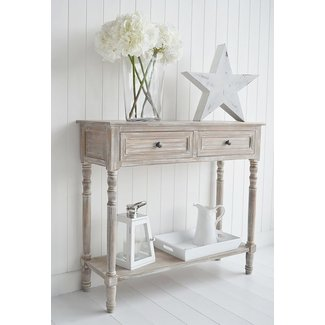 White Shabby Chic Console Table | Home Design