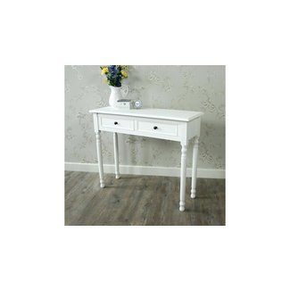 White Wooden Dressing Table Console Table Shabby Vintage ...