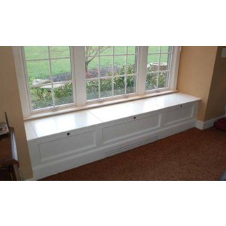 Window benches with storage | Bench with storage