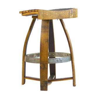 Wine Barrel Bar Stool with Memory Swivel - Wine Enthusiast