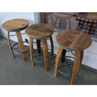Wine Barrel Bar Stools. Trendy Wine Barrel Bar Stools With