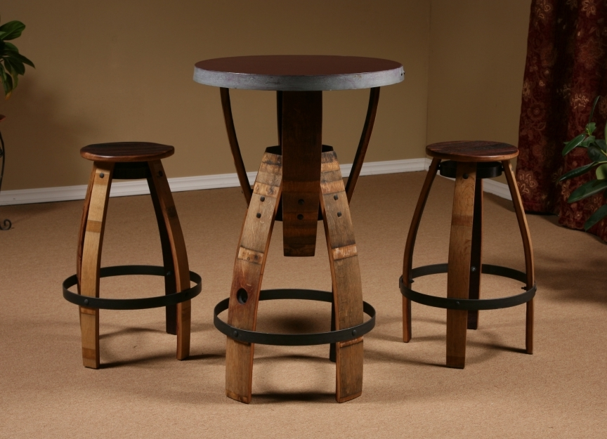 Wine Barrel Stave Furniture, Wine Barrel Bar Stool, Stave .