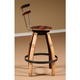 Wine Barrel Stave Furniture, Wine Barrel Swivel Stool ...