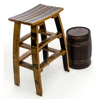 Wine Stave Bar Stool - Made Entirely from Recycled Barrels