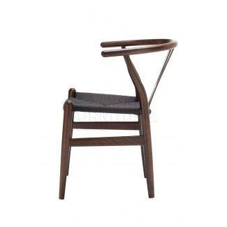 Wishbone Chair Dark Walnut with Black Colour Cord Seat ...
