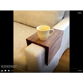 Wood Couch Arm Table | cool stuff | Pinterest