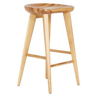 Wood Tractor Seat Stool - goenoeng