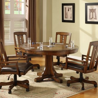 Wooden Folding Dining Chairs Kitchen With Casters No Arms ...