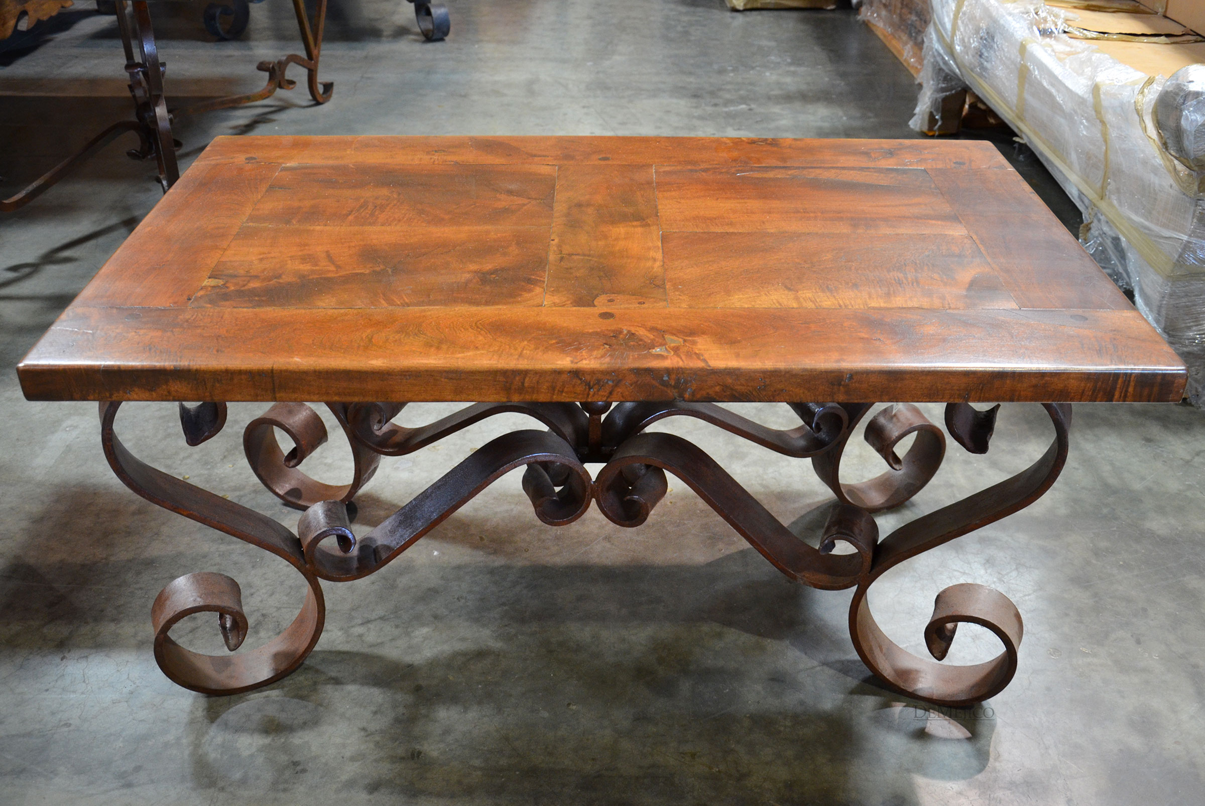 Wrought Iron Coffee Table Base, Porfirio Coffee Table .