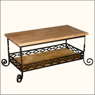 Wrought iron coffee table with legs — Coffee tables ideas