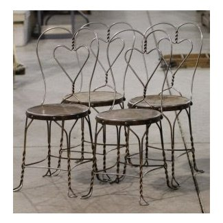 Wrought Iron Ice Cream Parlor Chairs