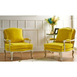 Yellow French Country Accent Chairs — Home Design Lover ...