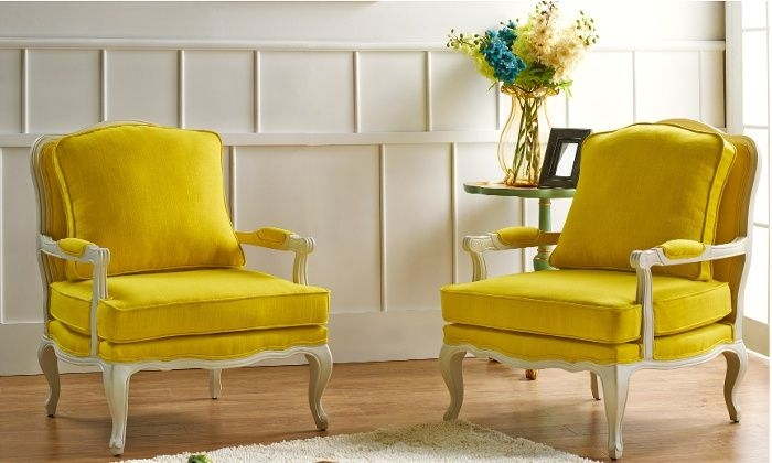 Yellow French Country Accent Chairs U2014 Home Design Lover .