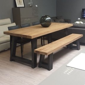 Admirable 50 Dining Table With Bench Youll Love In 2020 Visual Hunt Ibusinesslaw Wood Chair Design Ideas Ibusinesslaworg