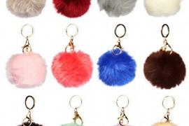 Fur Pom Pom Keychain
