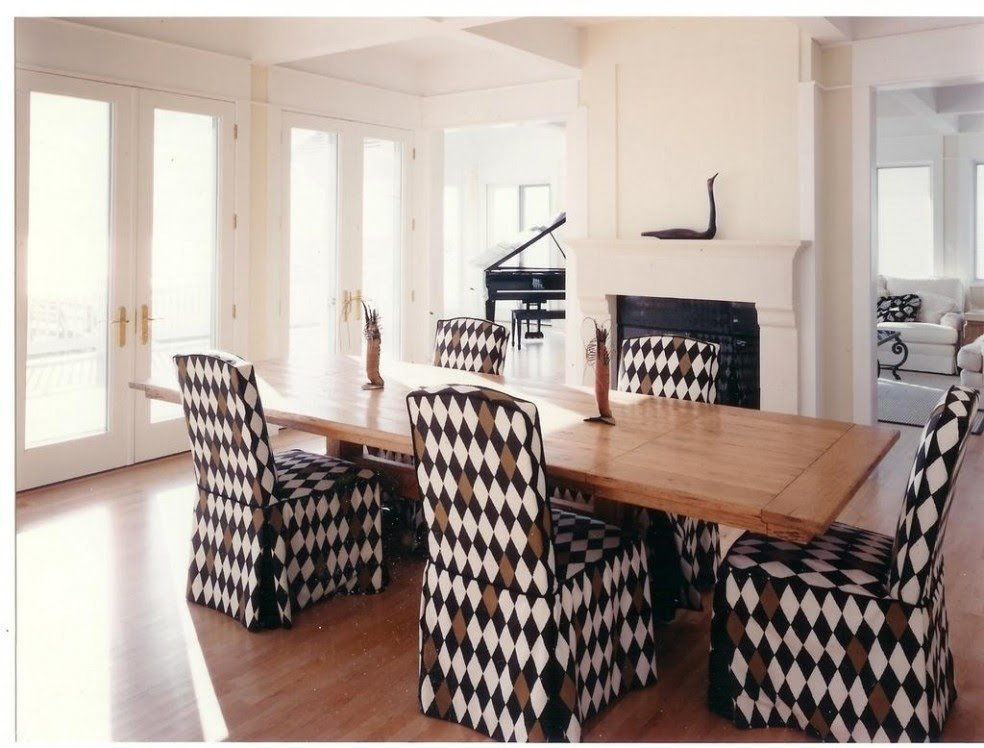 Patterned Dining Chairs Covers