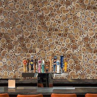 "12"" x 48"" Reclaimed Engineered Wood Wall Paneling in Brown"