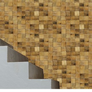 """12"""" x 48"""" Reclaimed Engineered Wood Wall Paneling in Golden"""