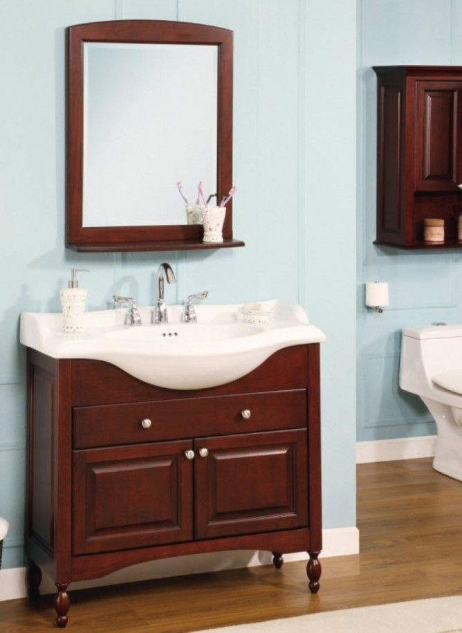 Narrow Depth Bathroom Vanity You Ll, Shallow Depth Bathroom Sinks