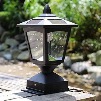4 x 4 Solar Powered Post Cap Light Wood Fence Posts Pathway,Deck,Fence Light
