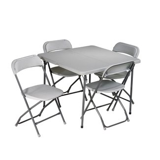 "5 Piece 36"" Square Folding Table Set"