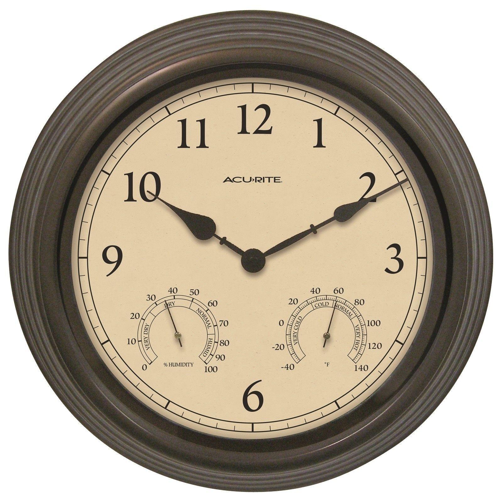 Acurite 15 Outdoor Clock Combo