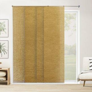 Adjustable Sliding Panel Room Darkening Brown Vertical Blind