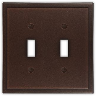Ambient Decorative Metal Double Toggle Light Switch Cover