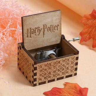 Wooden Music Box Engraved   Beauty and the beast Interesting Gift Toys Kid