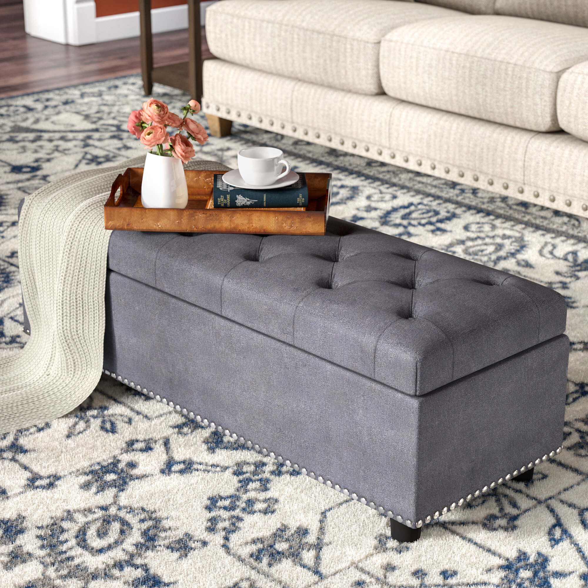 Rectangular Ottoman Coffee Table You Ll Love In 2021 Visualhunt