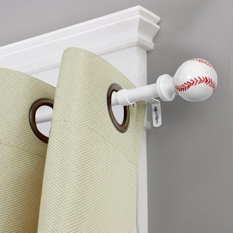 Baseball Endcap Curtain Rod